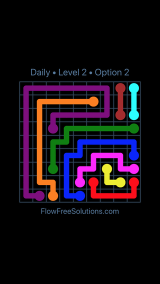Solution and Answer to the Puzzle for Flow Date Friday, December 7, 2018 Level 2