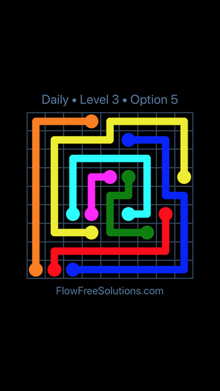 Solution and Answer to the Puzzle for Flow Date Friday, September 14, 2018 Level 3
