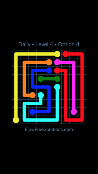 Solution and Answer to the Puzzle for Flow Date Friday, December 7, 2018 Level 4