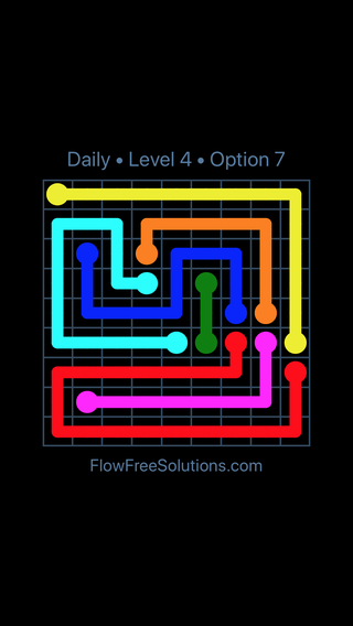 Solution and Answer to the Puzzle for Flow Date Friday, September 14, 2018 Level 4