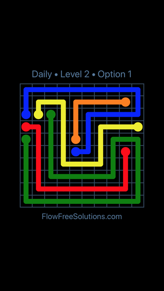 Solution and Answer to the Puzzle for Flow Date Saturday, December 8, 2018 Level 2