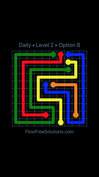 Solution and Answer to the Puzzle for Flow Date Saturday, September 15, 2018 Level 2