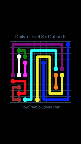 Solution and Answer to the Puzzle for Flow Date Saturday, December 8, 2018 Level 3
