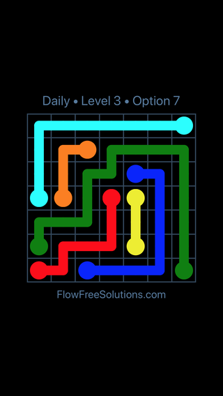 Solution and Answer to the Puzzle for Flow Date Tuesday, March 12, 2019 Level 3