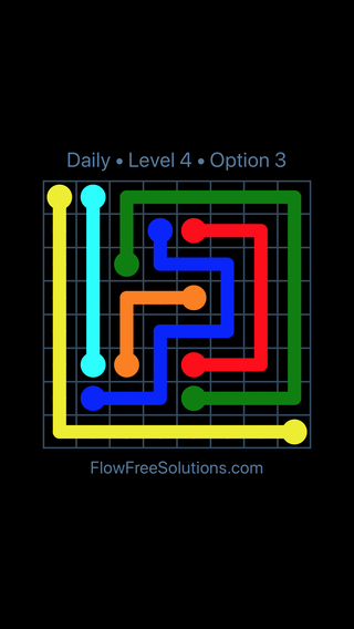 Solution and Answer to the Puzzle for Flow Date Tuesday, March 12, 2019 Level 4