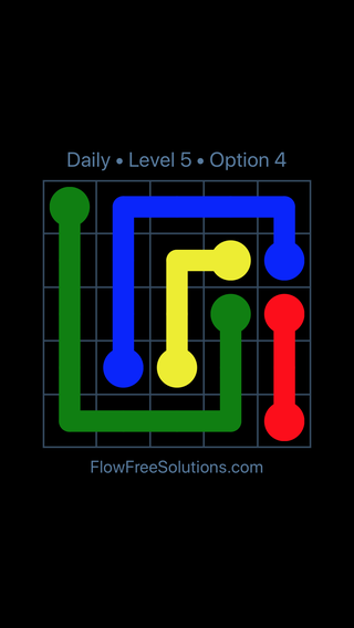 Solution and Answer to the Puzzle for Flow Date Tuesday, March 12, 2019 Level 5