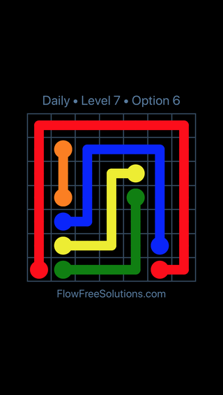 Solution and Answer to the Puzzle for Flow Date Tuesday, April 6, 2021 Level 7