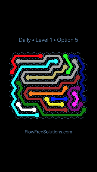 Solution and Answer to the Puzzle for Hexes Date Sunday, October 7, 2018 Level 1