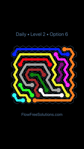 Solution and Answer to the Puzzle for Hexes Date Tuesday, January 9, 2018 Level 2