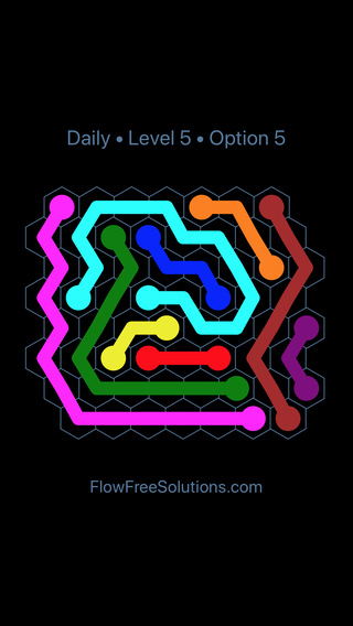 Solution and Answer to the Puzzle for Hexes Date Friday, January 12, 2018 Level 5