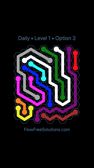 Solution and Answer to the Puzzle for Hexes Date Sunday, May 13, 2018 Level 1