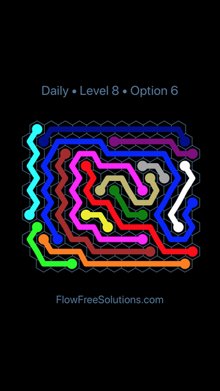 Solution and Answer to the Puzzle for Hexes Date Monday, December 4, 2017 Level 8