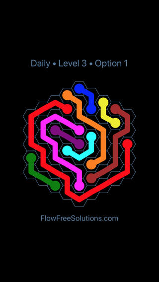 Solution and Answer to the Puzzle for Hexes Date Friday, December 7, 2018 Level 3