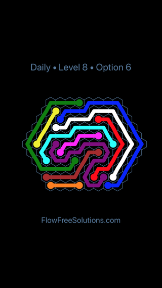 Solution and Answer to the Puzzle for Hexes Date Tuesday, December 5, 2017 Level 8