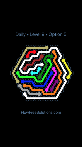 Solution and Answer to the Puzzle for Hexes Date Tuesday, December 5, 2017 Level 9