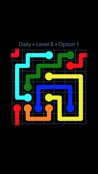 Solution and Answer to the Puzzle for Warps Date Monday, January 8, 2018 Level 8