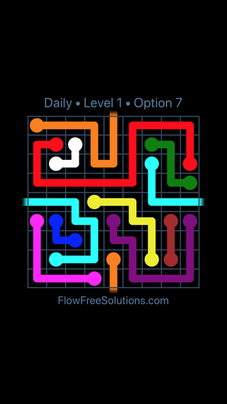 Solution and Answer to the Puzzle for Warps Date Wednesday, March 13, 2019 Level 1