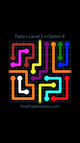 Solution and Answer to the Puzzle for Warps Date Wednesday, April 11, 2018 Level 2
