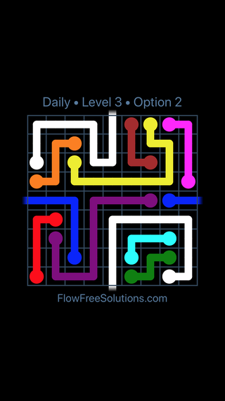 Solution and Answer to the Puzzle for Warps Date Wednesday, April 11, 2018 Level 3