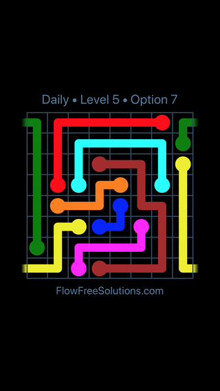Solution and Answer to the Puzzle for Warps Date Wednesday, March 13, 2019 Level 5