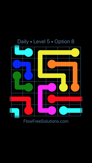 Solution and Answer to the Puzzle for Warps Date Friday, April 9, 2021 Level 5