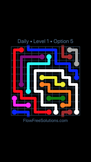 Solution and Answer to the Puzzle for Warps Date Sunday, April 15, 2018 Level 1