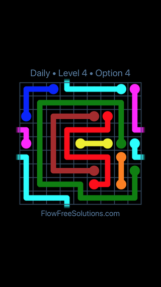 Solution and Answer to the Puzzle for Warps Date Tuesday, April 17, 2018 Level 4
