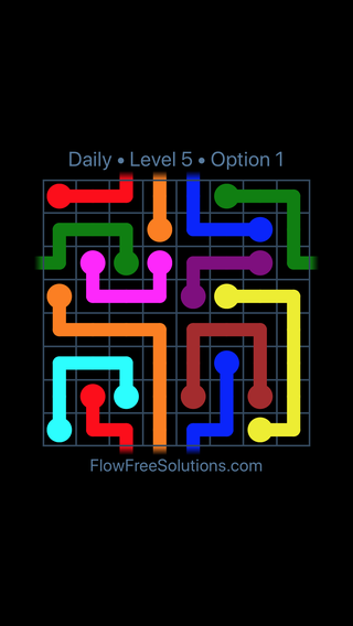 Solution and Answer to the Puzzle for Warps Date Wednesday, July 11, 2018 Level 5