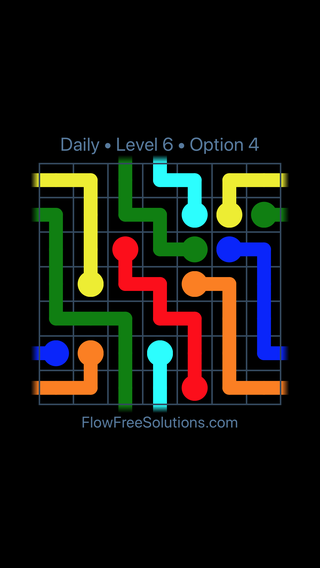 Solution and Answer to the Puzzle for Warps Date Wednesday, January 10, 2018 Level 6