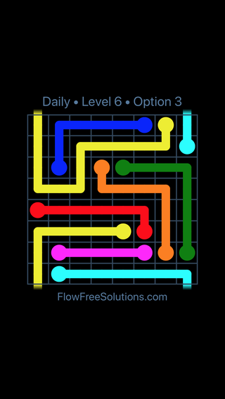 Solution and Answer to the Puzzle for Warps Date Tuesday, January 8, 2019 Level 6