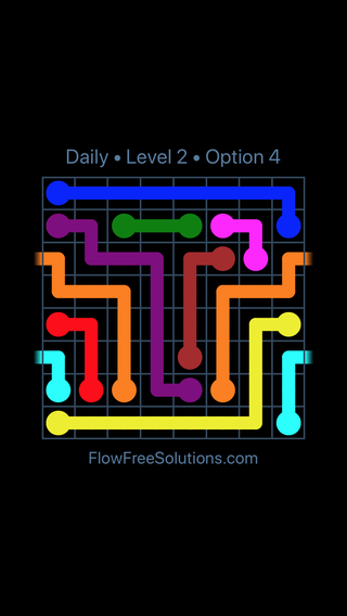 Solution and Answer to the Puzzle for Warps Date Friday, February 9, 2018 Level 2
