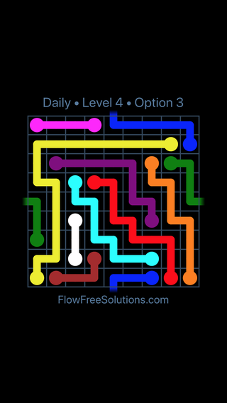 Solution and Answer to the Puzzle for Warps Date Sunday, January 13, 2019 Level 4