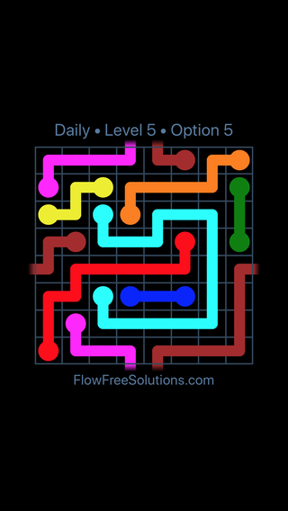 Solution and Answer to the Puzzle for Warps Date Sunday, January 13, 2019 Level 5