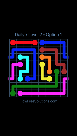 Solution and Answer to the Puzzle for Warps Date Monday, February 12, 2018 Level 2