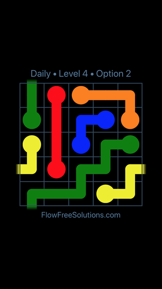 Solution and Answer to the Puzzle for Warps Date Wednesday, February 14, 2018 Level 4