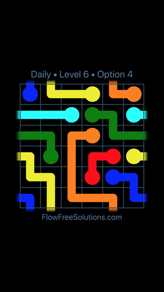 Solution and Answer to the Puzzle for Warps Date Thursday, January 11, 2018 Level 6