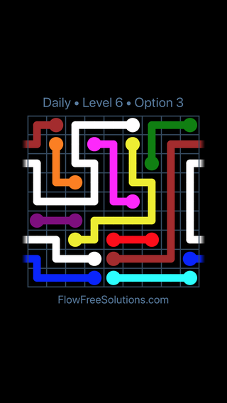 Solution and Answer to the Puzzle for Warps Date Wednesday, August 8, 2018 Level 6