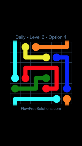 Solution and Answer to the Puzzle for Warps Date Thursday, August 9, 2018 Level 6