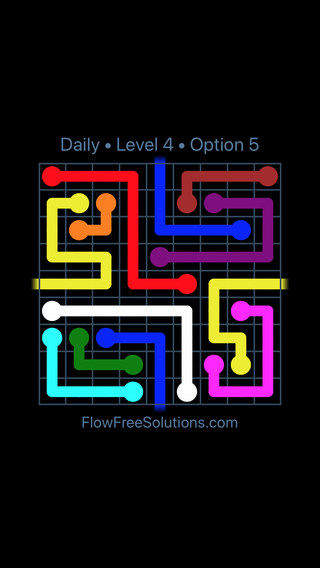 Solution and Answer to the Puzzle for Warps Date Friday, January 12, 2018 Level 4