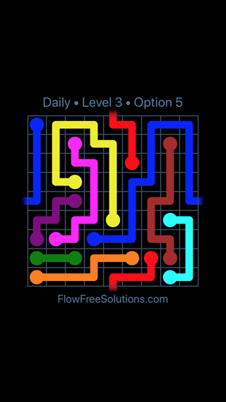 Solution and Answer to the Puzzle for Warps Date Thursday, February 7, 2019 Level 3