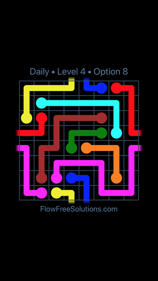 Solution and Answer to the Puzzle for Warps Date Thursday, February 7, 2019 Level 4