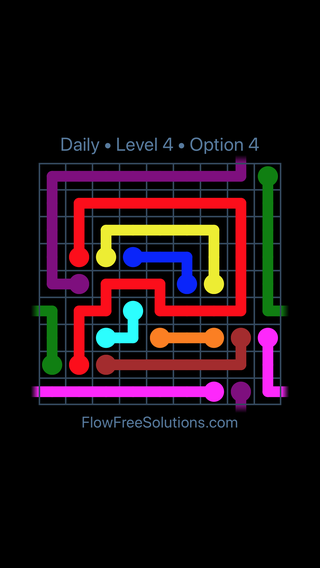 Solution and Answer to the Puzzle for Warps Date Monday, February 11, 2019 Level 4