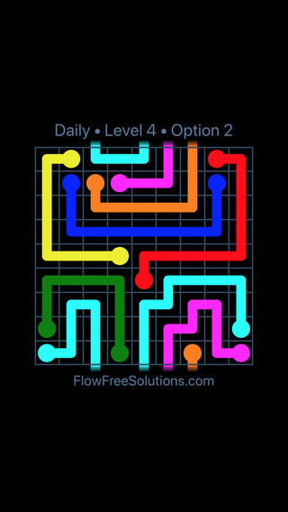 Solution and Answer to the Puzzle for Warps Date Tuesday, February 12, 2019 Level 4