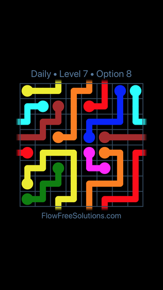 Solution and Answer to the Puzzle for Warps Date Wednesday, February 13, 2019 Level 7