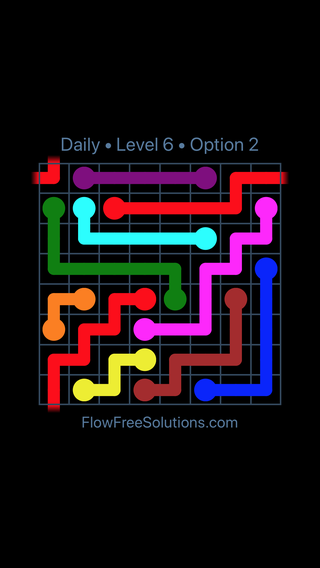 Solution and Answer to the Puzzle for Warps Date Monday, December 3, 2018 Level 6
