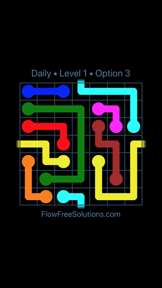 Solution and Answer to the Puzzle for Warps Date Tuesday, August 13, 2019 Level 1