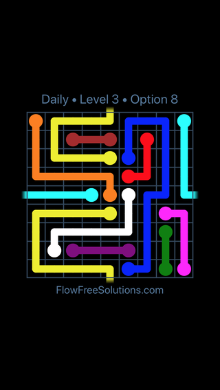 Solution and Answer to the Puzzle for Warps Date Tuesday, August 13, 2019 Level 3