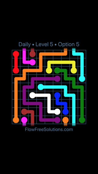 Solution and Answer to the Puzzle for Warps Date Monday, April 5, 2021 Level 5