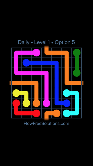 Solution and Answer to the Puzzle for Warps Date Tuesday, March 12, 2019 Level 1