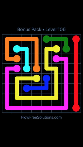 Solution and Answer to the Puzzle for Flow Free Bonus Pack Level 16